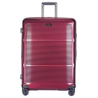 Луксозен куфар поликарбонат в цвят червено вино Puccini Vienna