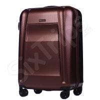 Куфар полипропилен среден размер Puccini New York в цвят червено вино