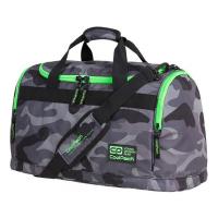 Спортен сак CoolPack Fit Camo Green Neon, сив камуфлаж с яркозелено