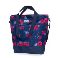 Чанта на цветя в тъмносиньо CoolPack Soho Red Poppy