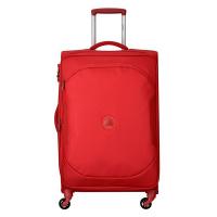 Мек червен куфар среден размер Delsey U-Lite classic 2 68см