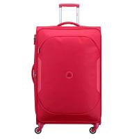 Голям червен куфар от здрав полиестер Delsey U-Lite classic 2 79см