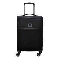 Малък олекотен мек куфар Delsey Brochant 55см, черен