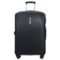 Голям куфар в стилен черен цвят на четири двойни колела Puccini Singapore, поликарбонат