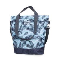 Светлосиня голяма дамска чанта CoolPack Soho Surf Palms