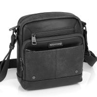 Изискана удобна мъжка чанта за през рамото Gabol Pocket в черно
