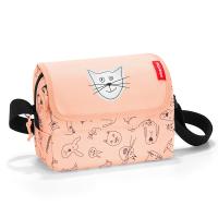 Детска чантичка Reisenthel Everydaybag Kids Cats and dogs, цвят роза
