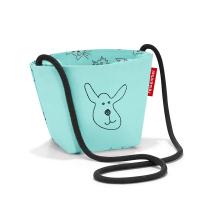 Детска малка чантичка за през рамо в цвят мента Reisenthel Minibag kids cats and dogs