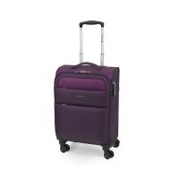 Малък олекотен текстилен куфар в лилав цвят Gabol Cloud