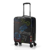 Малък куфар поликарбонат с дизайн на печати за ръчен багаж 55см Reisenthel Suitcase S