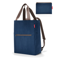 Сгъваема портативна чанта и раница Reisenthel Mini maxi 2-in-1, тъмносиня
