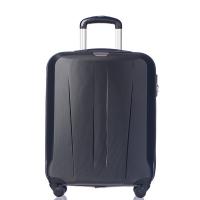 Малък твърд куфар 55см за ръчен багаж Puccini Paris, черен