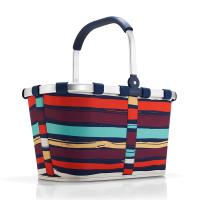 Свежа чанта за пазаруване Reisenthel Carrybag на цветни райета