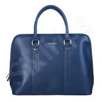 Класическа чанта в синьо Puccini 40см