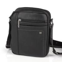 Черна чанта за през рамото Gobal Borneo 24см