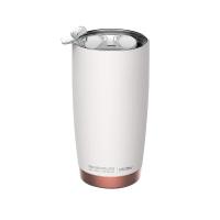 Практична двустенна термо чаша Asobu Gladiator с вакуумна изолация 600мл, в бял цвят