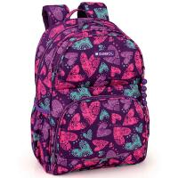 Стилна ученическа раница за момиче Gabol Dream в лилав цвят на сърца