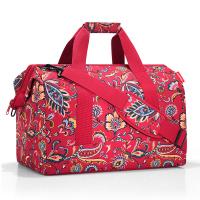 Голяма червена дамска пътна чанта на цветя Reisenthel allrounder L, Paisley ruby