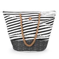Черно-бяла чанта за плаж Gabol Bora