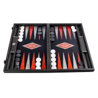 Луксозна черна табла ръчна изработка Manopoulos, черен дъб и сребърни ленти