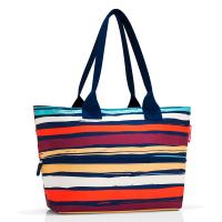 Цветна чанта за плажа, за пазаруване или ежедневието с разширение Reisenthel Shopper e1 artist stripes