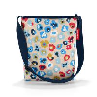 Практична бежова дамска малка чанта за през рамо Reisenthel Shoulderbag S, millefleurs
