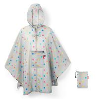 Дамски сив джобен дъждобран пончо на точки Reisenthel Mini maxi poncho, stonegrey dots