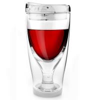 Стилна тристенна охлаждаща чаша за вино Asobu Ice Vino 2 Go, 300мл