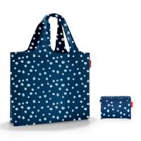 Голяма тъмносиня плажна чанта на точки Reisenthel Mini Maxi beachbag
