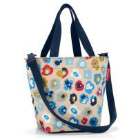 Удобна малка бежова дамска чанта Reisenthel Shopper XS, millefleurs