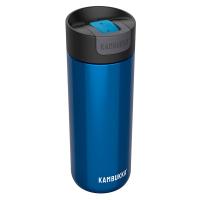 Удобна голяма синя термочаша за кафе или чай от неръждаема стомана Kambukka Olympus