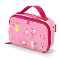 Малка и практична детска термо чанта Reisenthel Thermocase Abc Friends в розов цвят