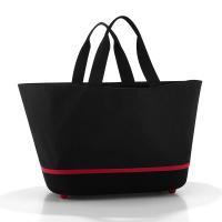 Стилна голяма черна дамска чанта за пазар Reisenthel Shoppingbasket, Black