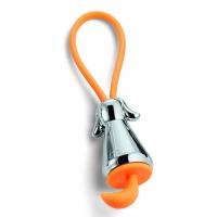 Малък ключодържател Philippi Flic Dog Silver в сребристо и оранжево