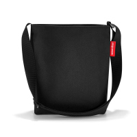 Практична черна дамска малка чанта за през рамо Reisenthel Shoulderbag S, black