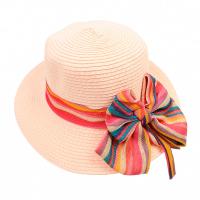 Изискана лятна шапка с голяма периферия HatYou, цвят праскова
