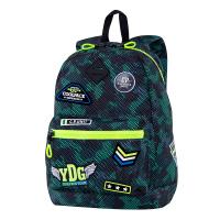 Раница зелен камуфлаж с яркозелено CoolPack CROSS Badges BGREEN
