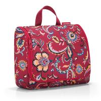 Червена чанта за тоалетни принадлежности за път със закачалка Reisenthel Toiletbag XL, Paisley ruby