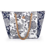 Чанта за плаж с флорални елементи Gabol Habana, синьо и бяло