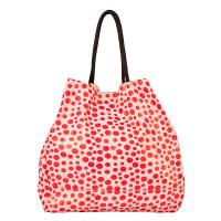 Червена чанта на точки HatYou, подходяща за плажа или ежедневието
