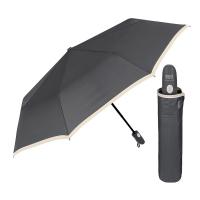Сив изискан удобен сгъваем автоматичен чадър Perletti Technology