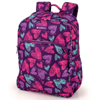 Малка ученическа раница за момиче Gabol Dream в лилав цвят на сърца
