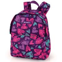 Удобна ученическа раница за момиче Gabol Dream в лилав цвят на сърца