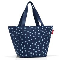 Практична дамска чанта за пазар в тъмносин цвят Reisenthel Shopper М, spots navy