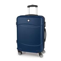 Твърд син куфар средна големина Gabol Orleans 67см