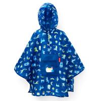 Детски син джобен дъждобран пончо Reisenthel Mini maxi poncho abc friends blue