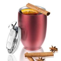 Стилна двустенна термо чаша Asobu Imperial с вакуумна изолация и вместимост от 300мл, в червен цвят
