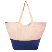 Лятна дамска чанта HatYou с лъскав ефект, синя