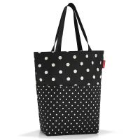 Стилна пазарска чанта Reisenthel Cityshopper 2 в черен цвят на точки