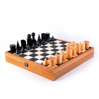 Шах в баухаус стил с игрално поле от еко кожа Manopoulos